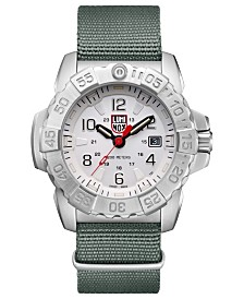 Luminox Men's 3257 Navy Seal Stainless Green Nylon Strap Watch