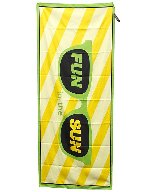 MinxNY Premium High Performance Large Beach  Pool Towel  Fun in the sun, Green By MinxNY