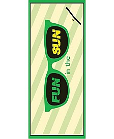 Premium High Performance Large Beach Pool Towel With Pocket Fun In The Sun, Green By MinxNY