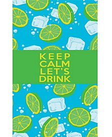 Premium Beach Towel Super Absorbent & Soft Lightweight & Compact Eco-friendly Anti-bacterial Travel Accessory Keep Calm Let's Drink Green By MinxNY