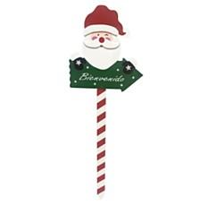 """26.8"""" H Garden Stake - Santa"""