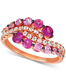 Le Vian® Strawberry Layer Cake Multi-Gemstone Ring in 14k Rose Gold