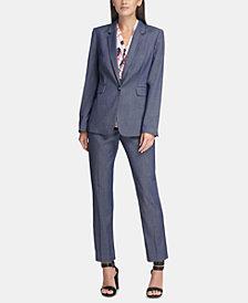 DKNY Denim Blazer, Ruched Top & Denim Pants, Created for Macy's