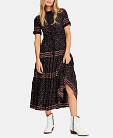Rare Feeling Pleated Printed Dress