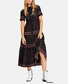 Free People Rare Feeling Pleated Printed Dress