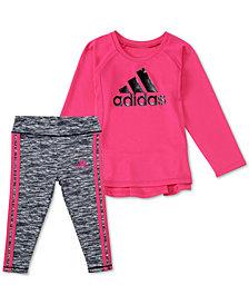 adidas Baby Girls 2-Pc. Logo Graphic Top & Leggings Set