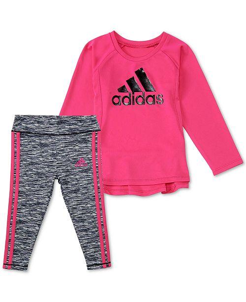 5cbab6af ... Leggings Set; adidas Baby Girls 2-Pc. Logo Graphic Top & Leggings ...
