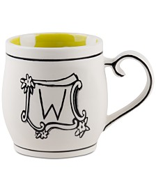CLOSEOUT! Home Essentials Molly Hatch Monogram Mug, Letter W