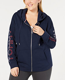 Tommy Hilfiger Sport Plus Size Zip-Front Hooded Sweatshirt