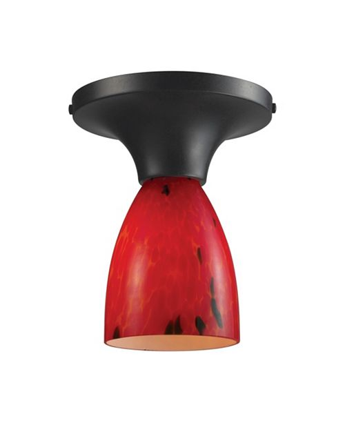 ELK Lighting Celina 1-Light Semi-Flush in Dark Rust