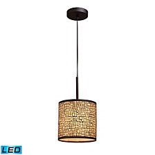 Medina 1-Light Pendant in Aged Bronze - LED Offering Up To 800 Lumens (60 Watt Equivalent) with Full Scale Dimming Range