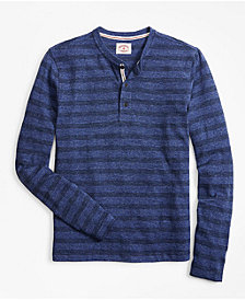 Brooks Brothers Men's Knit Henley Shirt