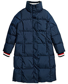 Tommy Hilfiger Women's  Petunia Long Puffer Coat From The Adaptive Collection