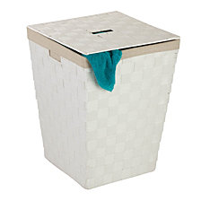 Honey Can Do Woven Lined Hamper with Lid