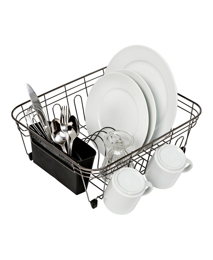 Honey Can Do - Wire Dish Rack, Black