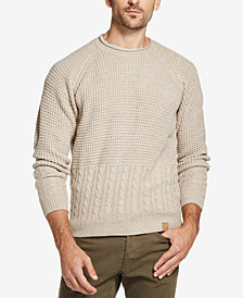 Weatherproof Vintage Men's Mixed-Stitch Crew-Neck Sweater