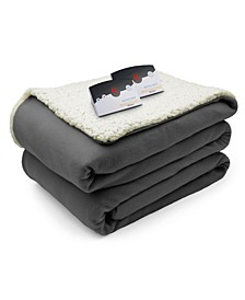 Electric Comfort Knit Fleece/Sherpa King Blanket