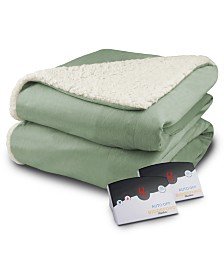 Biddeford Heated Micro Mink/Sherpa Queen Blanket