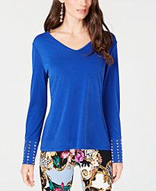 Thalia Sodi Cross-Back Embellished Top, Created for Macy's