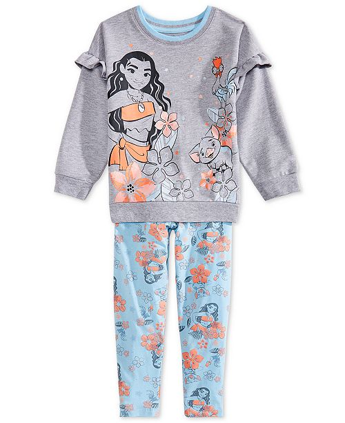 Disney Little Girls 2-Pc. Moana Top & Leggings Set
