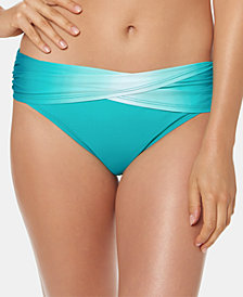 Bleu by Rod Beattie Ombré Foldover Bikini Bottoms