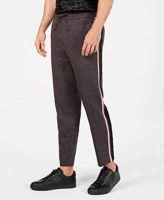 I.N.C. Men's Glen Plaid Drawstring Pants, Created For Macy's by Inc International Concepts