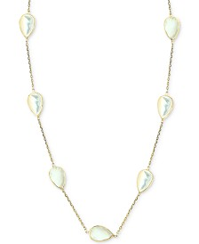 """EFFY® Mother-of-Pearl 16-1/2"""" Collar Necklace in 14k Gold"""