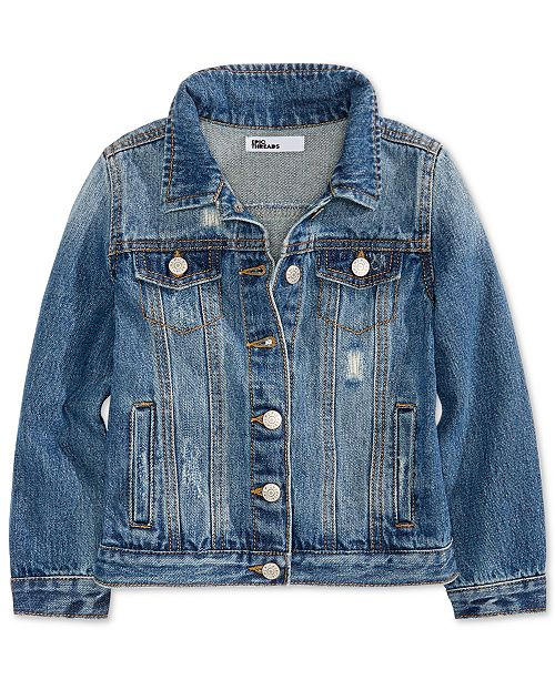 Epic Threads Big Girls Cotton Denim Jacket, Created for Macy's