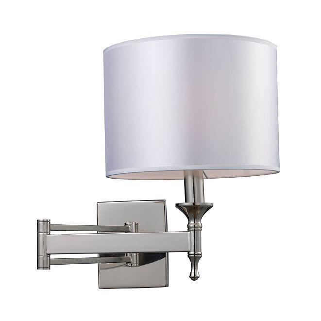 ELK Lighting Pembroke 1-Light Wb Swing Arm In Polished Nickel
