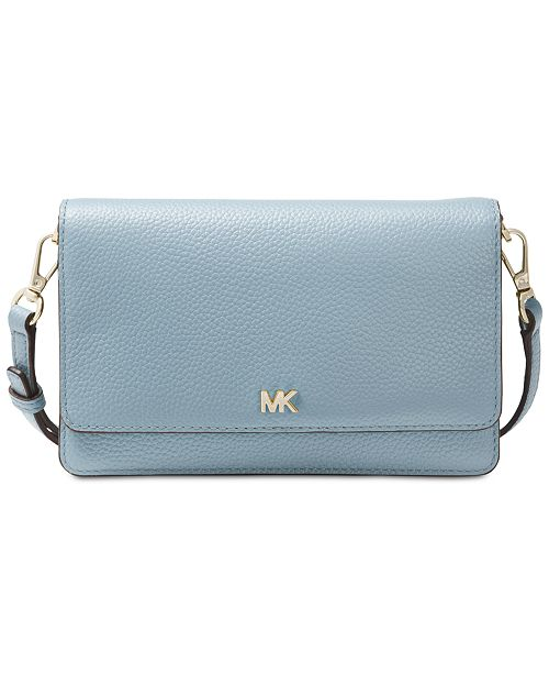 858a65ec9d8d Michael Kors Pebble Leather Phone Crossbody Wallet   Reviews ...