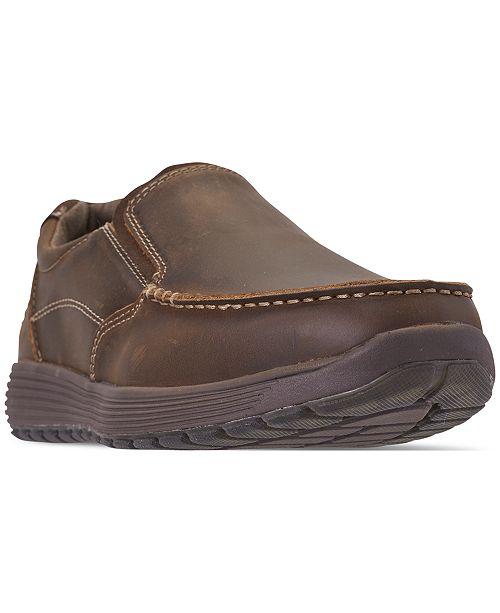skechers men's slip on shoes wide width