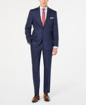 840860a8a Tommy Hilfiger Men's Modern-Fit Navy Windowpane Suit Separates
