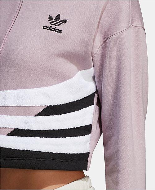 3e4e4138 adidas Bossy 90s Cropped Hoodie & Reviews - Tops - Women - Macy's