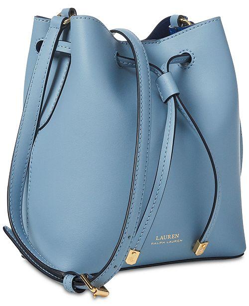 Lauren Ralph Lauren Dryden Debby II Mini Leather Drawstring Bag ... 9fa324dc4d