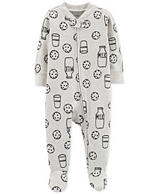 Carter's Baby Girls or Boys 1-Pc. Cookie-Print Footed Pajamas