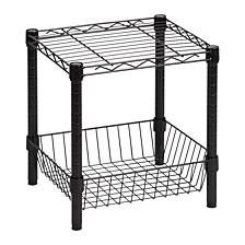 Black Wire Shelf with Basket
