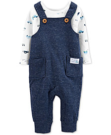 Carter's Baby Boys 2-Pc. Car-Print T-Shirt & Overall Set