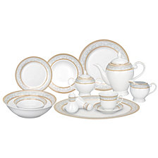 Lorren Home Trends Giada 57-PC Dinnerware Set, Service for 8