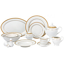 Lorren Home Trends Josephine 57-PC Dinnerware Set, Service for 8