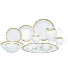 Lorren Home Trends Safora 57-PC Dinnerware Set, Service for 8