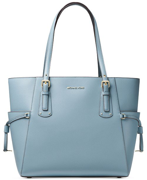 5da0415f6f3a Michael Kors Voyager East West Crossgrain Leather Tote & Reviews ...