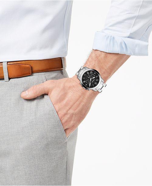 e3782c33dbbb ... Fossil Men s Chronograph Grant Stainless Steel Bracelet Watch 44mm  FS4736 ...