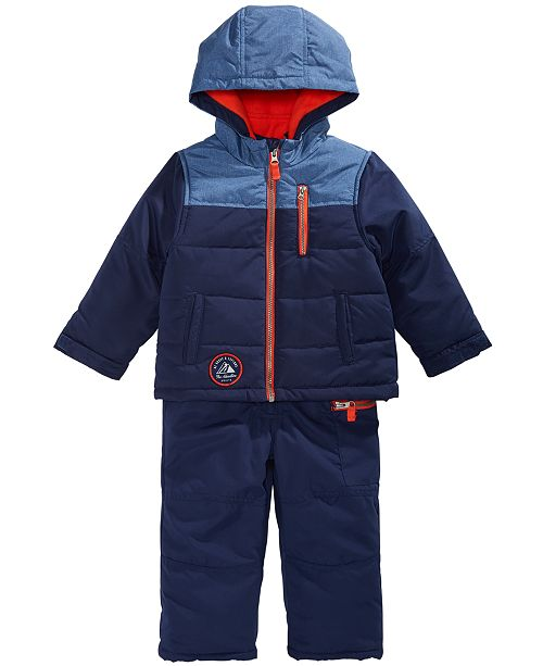 bab215bca Carter's Toddler Boys Colorblocked Hooded Snowsuit; Carter's Toddler Boys  Colorblocked Hooded Snowsuit ...
