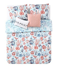 VCNY Coast to Coast 5-Pc Queen Reversible Bedding Comforter Set