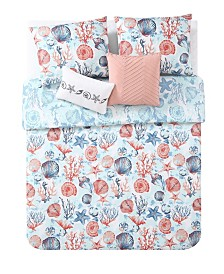 VCNY Coast to Coast 5-Pc Queen Reversible Bedding Comforter Set