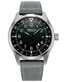 Men's Swiss Startimer Pilot Light Gray Nylon Strap Watch 42mm