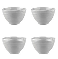 Portmeirion Sophie Conran Grey Small Footed Bowl Set of 4