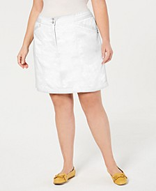 Plus Size A-Line Skort, Created for Macy's
