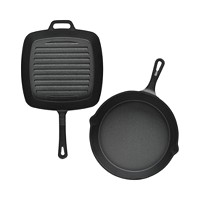Deals on Sedona Cast Iron 10-in Skillet & 10-in Square Grill Set
