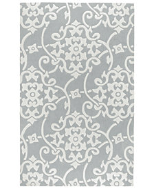 "Surya Cosmopolitan COS-8828 Medium Gray 3'6"" x 5'6"" Area Rug"